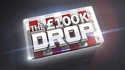 "Logo from the TV show, ""The £100k Drop""."